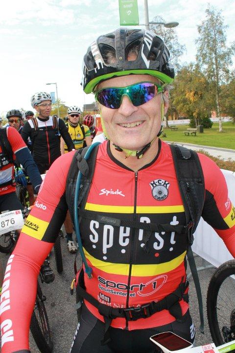 I FORM: Andreas Bye syklet fort i Birkebeinerrittet selv om han aller helst skulle ha syklet Ultra-Birken som er den lengste og mest krevende varianten.