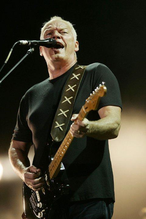PINK FLOYD-HYLLEST:  David Gilmour, gitarist i Pink Floyd. Bandet hylles fredag.