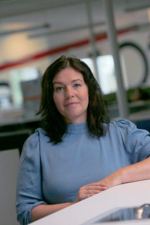 HØYT SMITTETALL: Kommuneoverlege Katrine Marie Haga Nesse i Karmøy kommune sier de er forberedt på variasjoner på smittetallene framover.