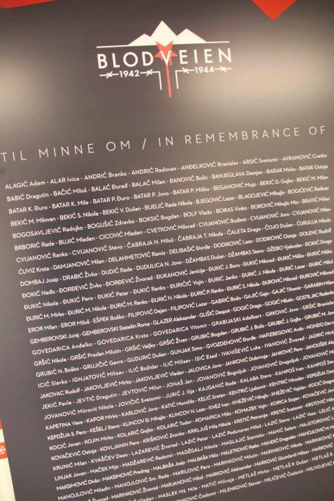 NAVN: Minnetavlene er påført navnene til fanger som omkom.