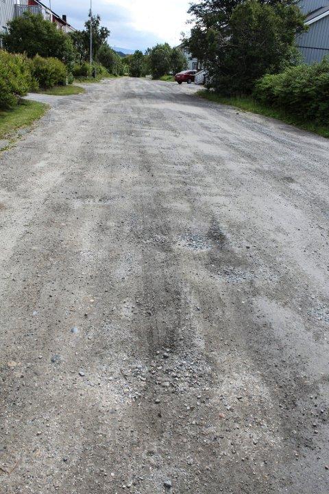 Bakkegata grusvei trenger skraping