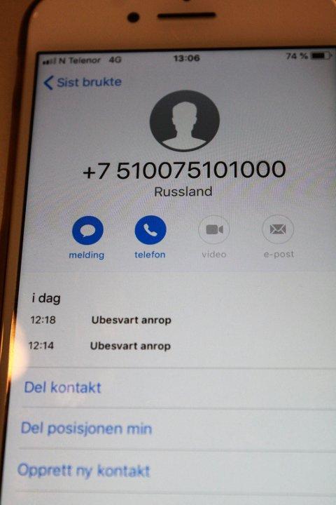 RUSSLAND: Slik så signaturen ut da Vefsn kommune ringte til Helgelendingens journalist onsdag.