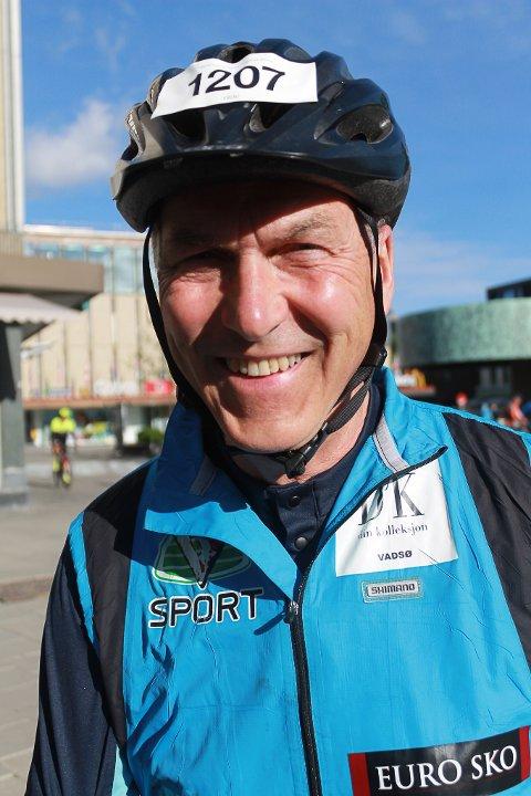 SLITER: Bård Wormdal hadde tilbrakt 23 timer på sykkelsetet og tilbakelagt 543 kilometer da han gikk i mål på Den store Styrkeprøven.