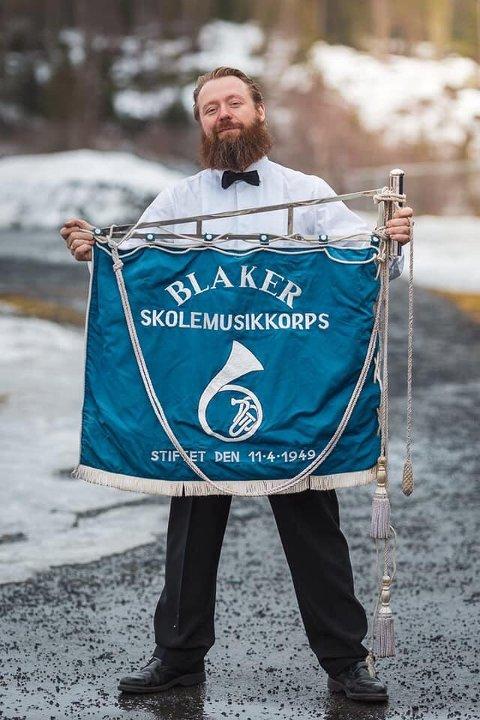 Jubilerer: Leder Alexander Nygård i Blaker skolemusikkorps.