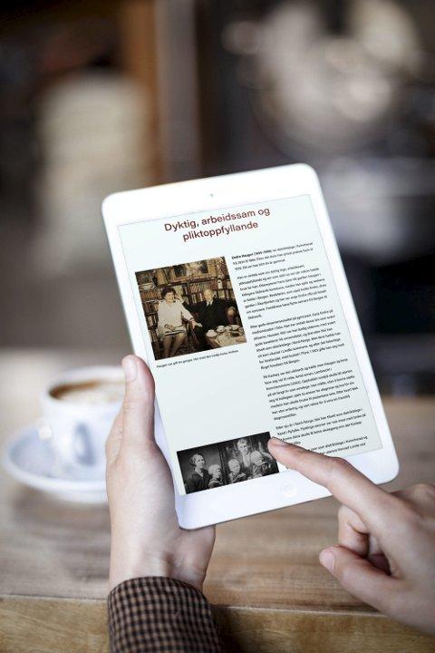 NETTSIDE: På nettsida dokterhaugen.no finn du nye historier som er komne til etter at boka blei gitt ut.