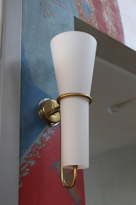 Belysning i tak og vegger er fra invielsen for over 50 år siden.