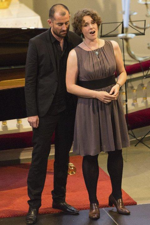 DUETTPAR: Johannes Weisser og Marianne Beate Kielland sang fra Porgy and Bess.