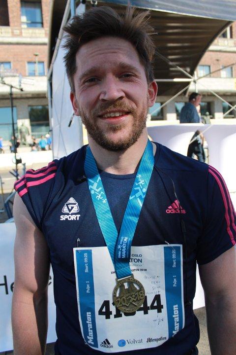 Edvin Berge Rasmussen er i ferd med å gjøre det til en tradisjon at han stiller til start i Trondheim Maraton.