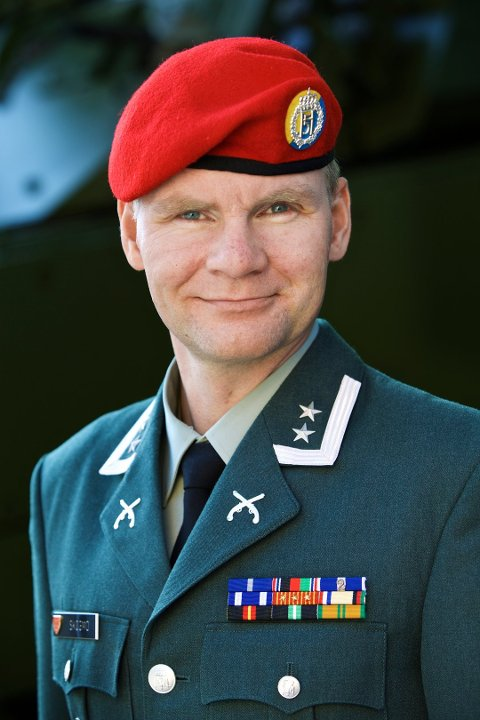 Talsmann for Hæren, Ole Johan Skogmo/Army spokesman Ole Johan Skogmo (Foto: Torgeir Haugaard/ Forsvaret)