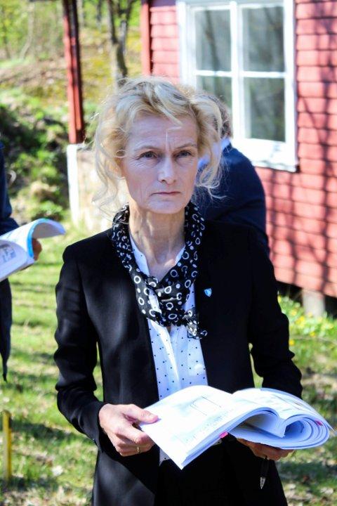 Margrethe Løgavlen, kommunaldirektør i Færder, hadde flere gode nyheter å komme med om saksbehandlingsmengden i kommunen.