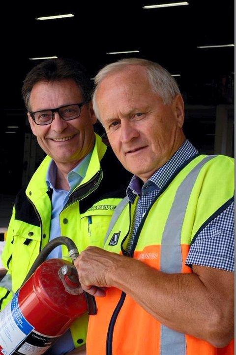 Bertil Tomter og Erik Weisser-Svendsen. Pressefoto.