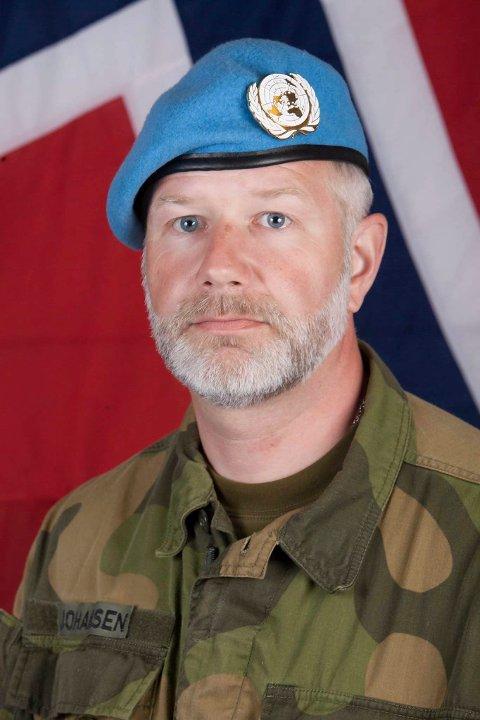 Jon Erling Johansen, stabsoffiser i Forsvarets veterantjeneste.