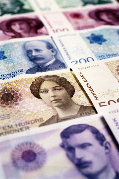 Norske sedler. Norske pengesedler. Spare. Sparing. Currency - Finances- Norwegian money - kroner - krones Foto: Berit Roald / NTB scanpix
