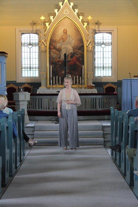 Opera: Ida Kristin Kilen fremførte sin opera.
