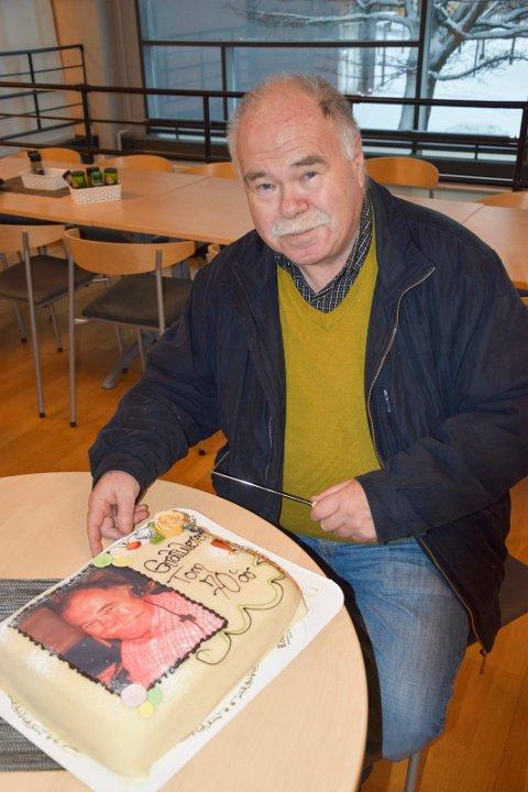 Tom Helgerud 70 år - til sistesiden onsdag.