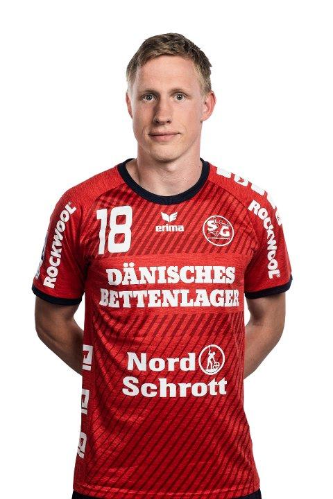 FAST STRAFFESKYTTER: Magnus Jøndal (30) er blitt SG Flensburg-Handewitt sin faste straffeskytter. Så langt har han notert seg for 14 fulltreffere fra sjumeteren. Totalt har han scoret 24 mål og ligger med det på 31. plass over målscorere i Bundesliga.