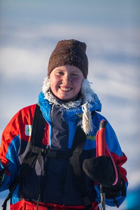 Søndag kveld var Karen Kyllesø ferdig med turen over Grønland. Fredag er ho heime i Årdal att.