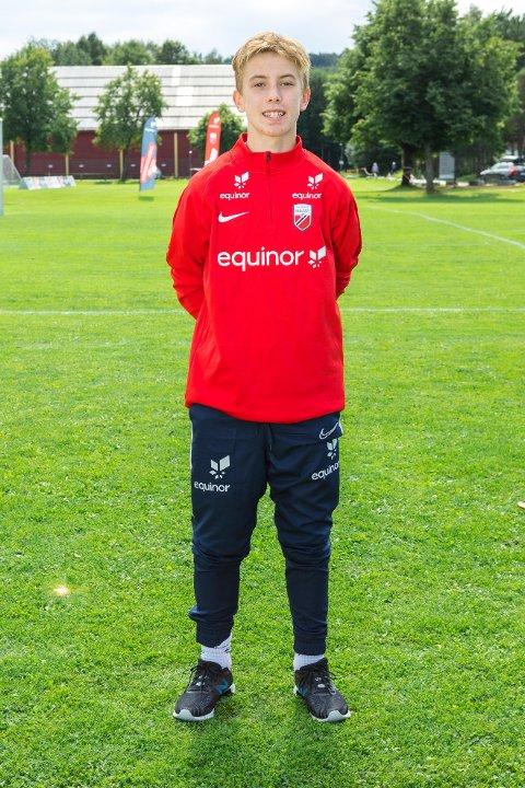 Isak Jønvik Holmen er på Equinors talentleir i Porsgrunn.