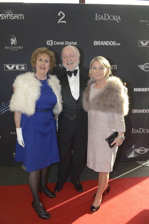 Trude Drevland, Kjell Arne Totland og Monica Mæland på Gullruten i mai 2013.