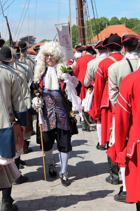 Selveste Kong Frederik IV gjestet Gamlebyen lørdag ettermiddag, og var der hele dagen.