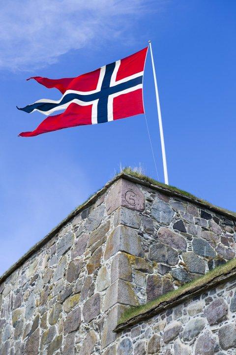 Splittflagget på festningen