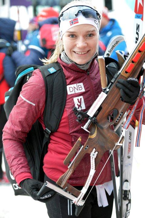Juni Arnekleiv åpnet skiskyttersesongen med seier under Østlandsmesterskapet på rulleski på Toten