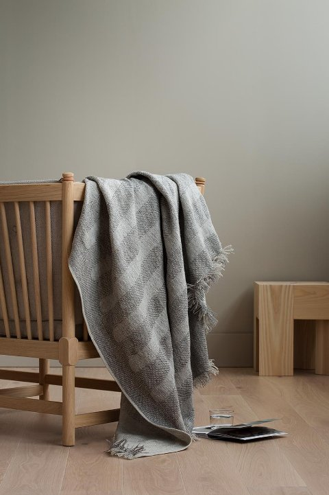 HELLE: Teppet Helle er inspirert av norske helleristninger, og produsert på Grinakervev for Fram Oslo.