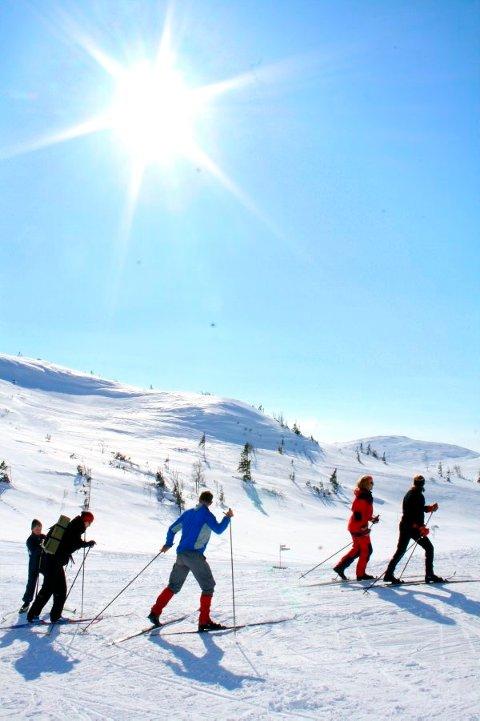 SKIFØRET ER DER: Det er fortsatt godt brukbart påskeføre i de indre delene av Namdalen. Det er bare å håpe at påskesola kommer slik at folk kommer seg ut.