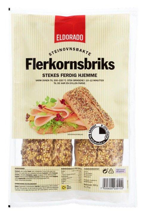TILBAKEKALLES: UNIL tilbakekaller Eldorado Flerkornsbriks på grunn av mulig skadelig innhold i sesamfrø. Foto: Norgesgruppen/NTB