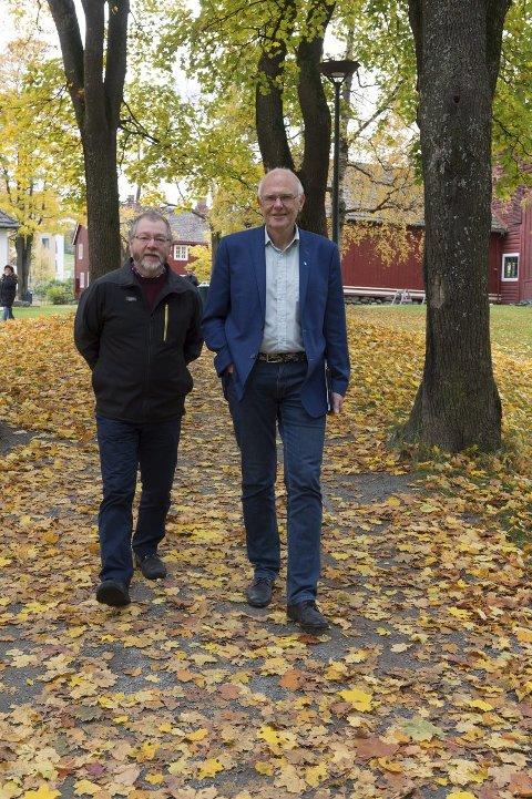 Samarbeid: Røds Finn Olav Rolijordet (t.v.) og Bjørn Iddberg har vært uenige om mye. Nå skal de jobbe sammen som henholdsvis varaordfører og ordfører i Gjøvik. Foto: Henning Gulbrandsen