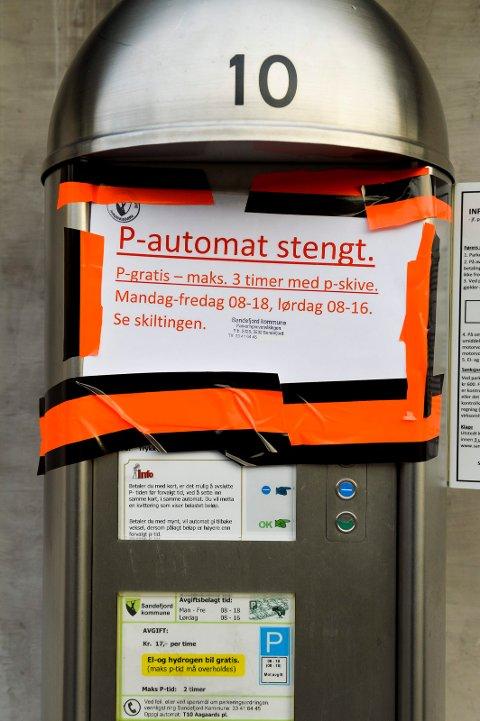 Alle betalingsavtomatene ved Aagaards plass og bak Taxisentralen vil bli fjernet.