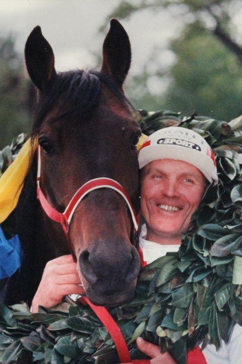 Bilde frå den gongen radarparet frå Sviland vann Eliteloppet i Sverige.