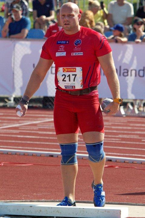 NEST BEST: Michal Pawel Rozporski tok sitt andre NM-sølv i kule på Hamar.