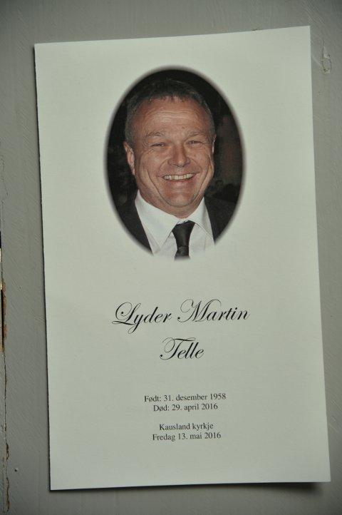 Lyder Martin Telle (57) ble gravlagt fra Kausland kirke i Sund fredag formiddag.