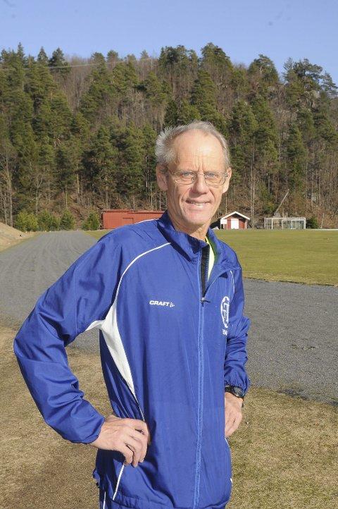 Sprek kar: I september fyller Gunnar Bjørn Solfjeld 70 år. Han er fremdeles i superform, og denne helgen ble det intet mindre enn fire medaljer under Veteran-NM i friidrett på Modum. Foto: Arkiv