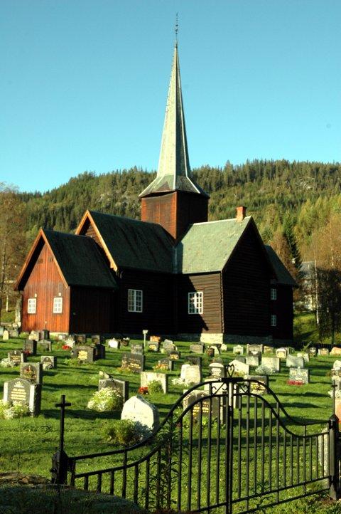 Kirker og forsamlinger. Bruflat kyrkje *** Local Caption ***