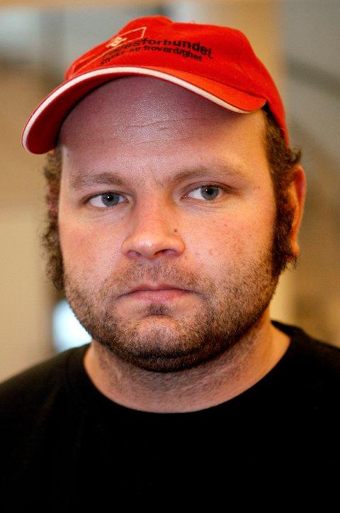 PROTEST: Leder av Fellesforbundet Nord-Rogaland Steffen Høiland er svært misfornøyd med det sittende styret i Arbeiderpartiet.