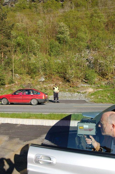 En egen UP-patrulje kommer til Ryfylke i høst. Da blir det flere fartskontroller enn folk i regionen er vant med. En av årsakene er at Riksveg 13 er ulykkesbelastet. (Arkivfoto)