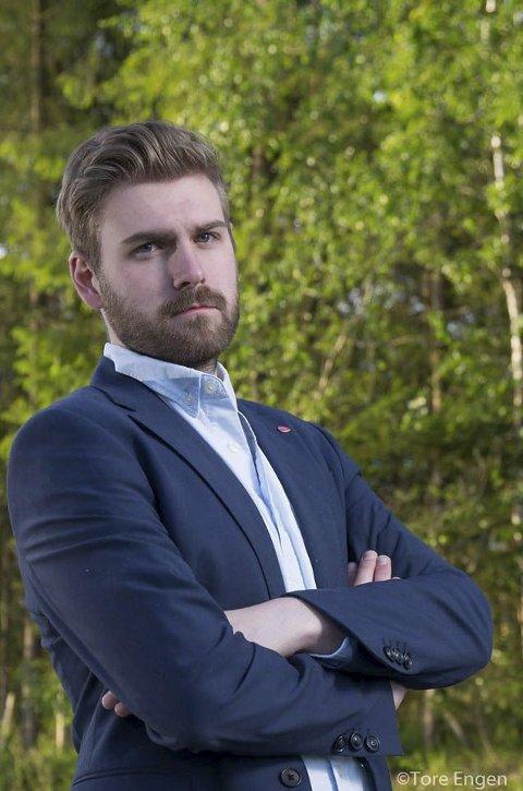 Stian Olafsen, leder Vestre Toten Ap