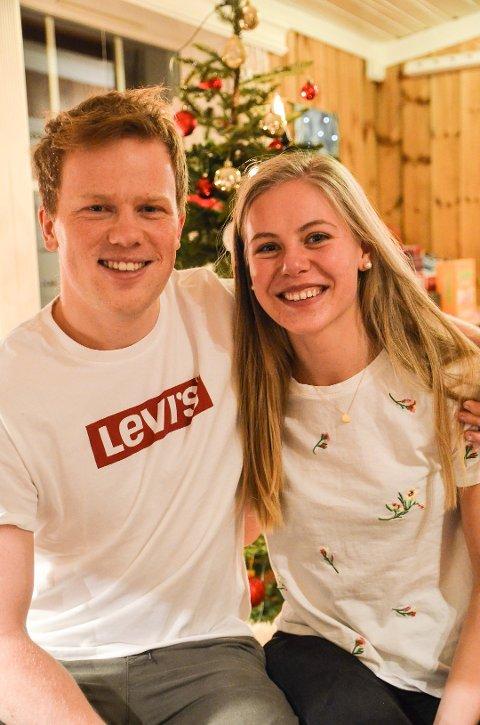 Johannes Dale har tjent gode penger den siste uka, og lover fine julepresanger i år. Her fra fjorårets jul, med samboer Kristina Skjevdal.