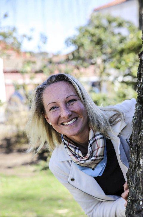 Gleder seg: Torhild Grimseth Huseby gleder seg, men er også spent når hun nå tråkker til som ny og uerfaren leder av Halden Idrettsråd. Foto: Hans-Petter Kjøge