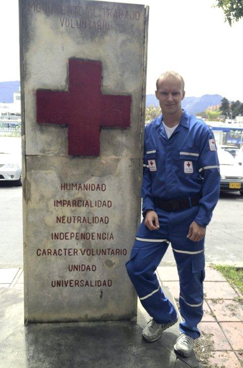 Daniel Schmidt fra Sørum er ungdomsdelegat for Røde Kors i Colombia. Alle foto: privat