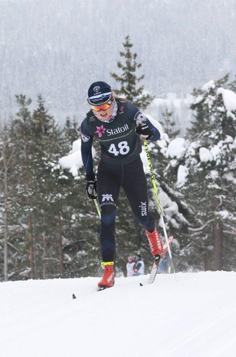 NUMMER SEKS: Sofie Mohn gikk inn til en meget sterk sjetteplass i 17-årsklassen under junior-NM på ski i Steinkjer fredag.