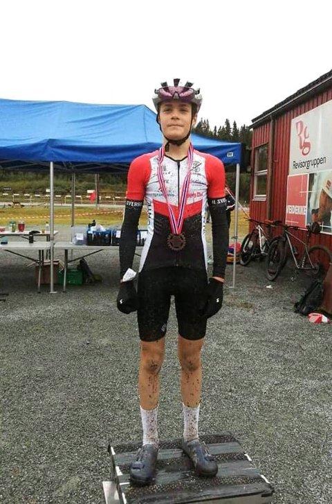 BRONSE: Marko Cickaric fra IL Sverre tok bronsemedalje under regionmesterskapet i terreng.