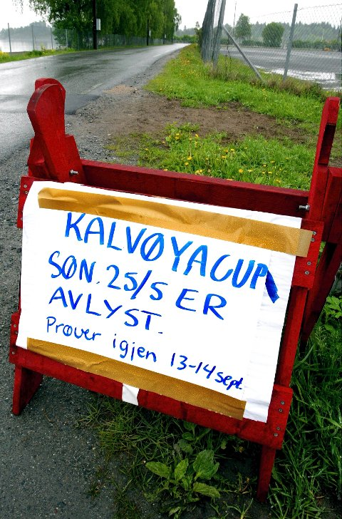 Avlyst: I 2003 ble deler av Kalvøya Cup avlyst på grunn av mye nedbør. Nå er det meldt mye nedbør igjen. FOTO: KARL BRAANAAS