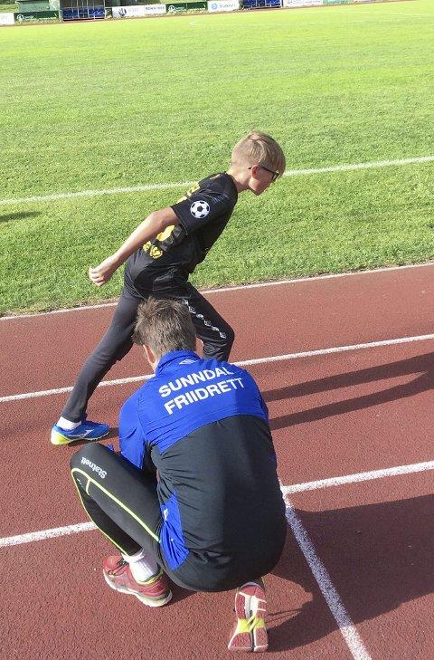I aksjon: Nøyaktighet er viktig i treningsarbeidet.