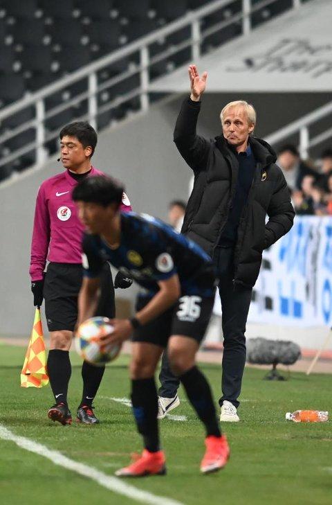 TRENER: Jørn Andersen har tidligere trent det nord-koreanske landslaget. Nå er han åpen for en jobb i Strømsgodset.