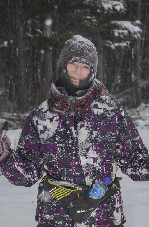 Friluftsmenneske: Bente Ramberg Glundberg var på skitur i Kjølebrønd i dag.