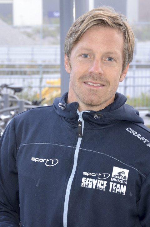 MORGENFUGL: Stian Adde Johannesen fra Sport 1 i Røyken.