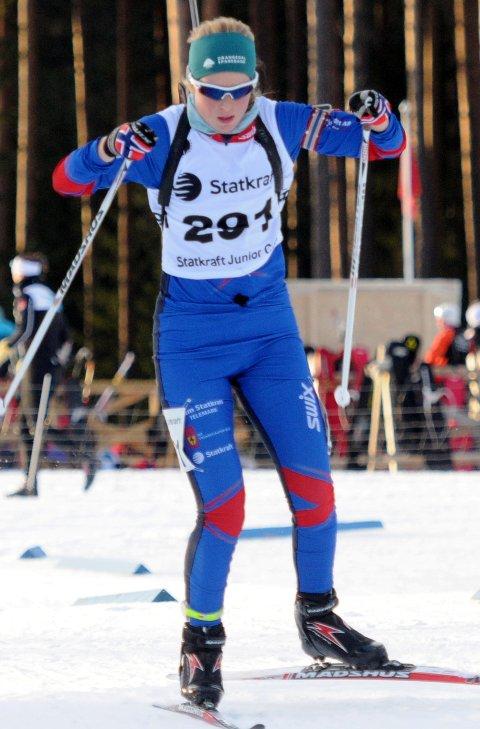 SESONGBESTE: Ida Emilie Herfoss fra Drangedal har slitt med sykdom hele sesongen, men i går var hun tilbake på topp.
